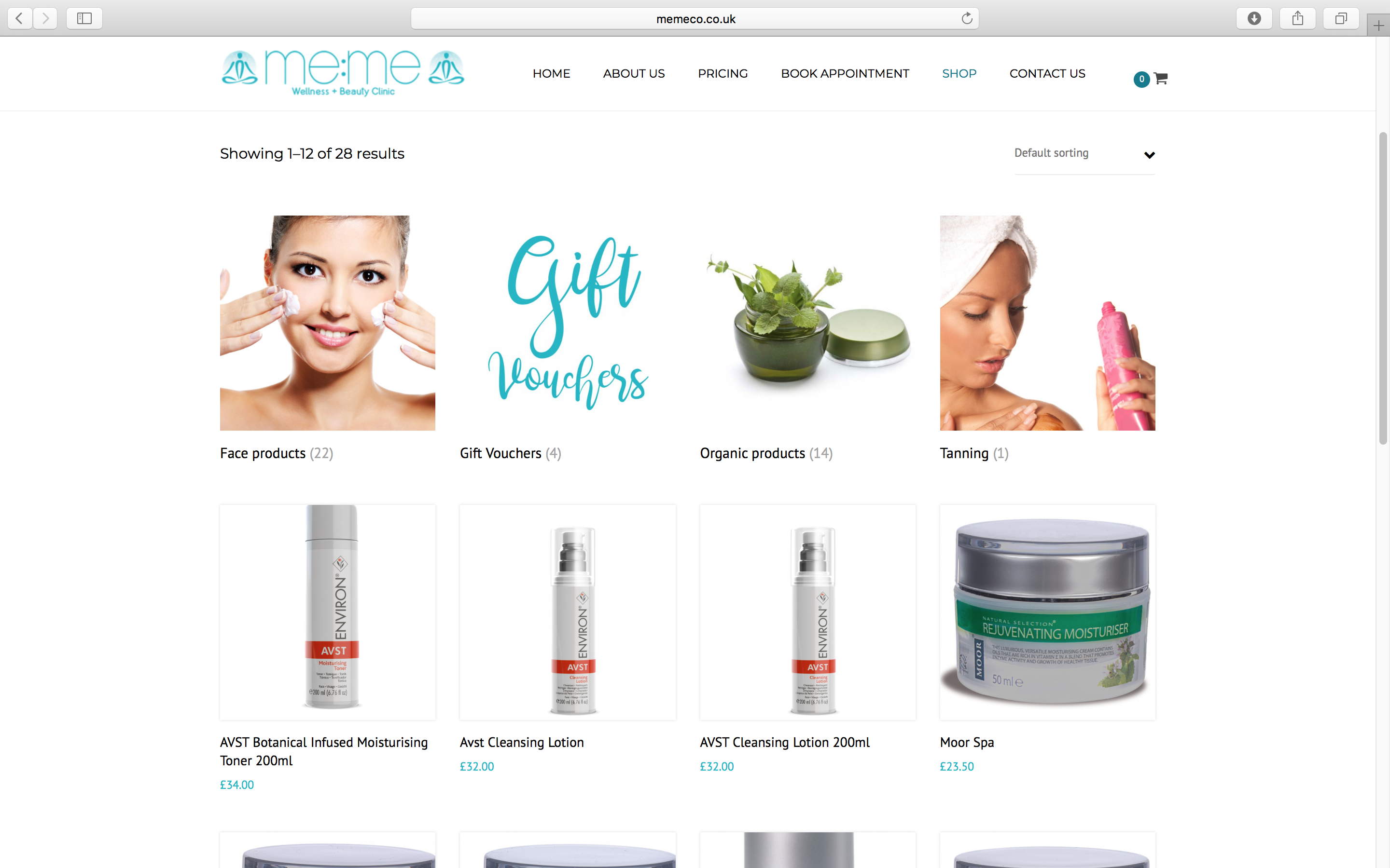 MeMe Beauty Therapy Online Store