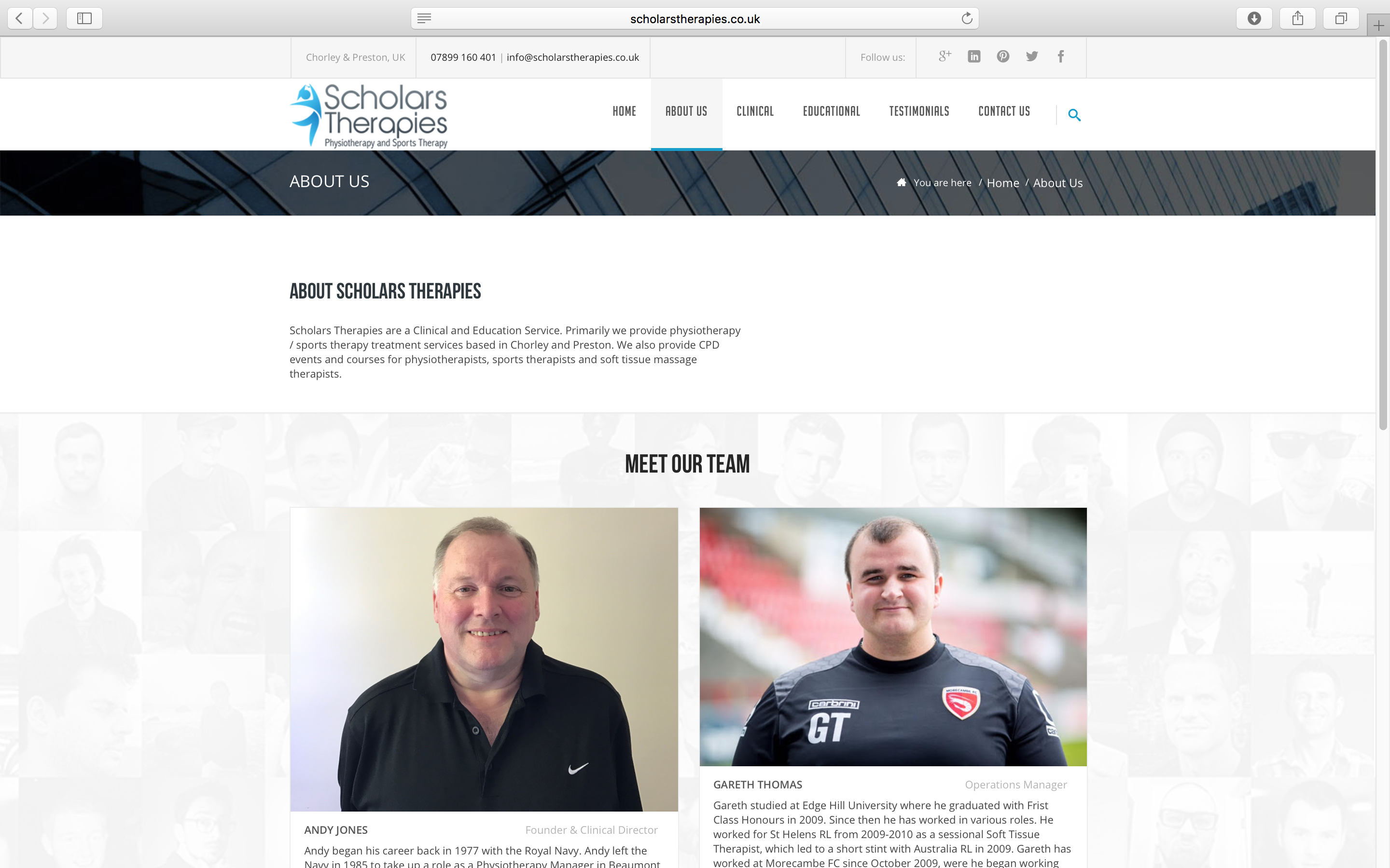 Scholars Therapies Sports Therapist About