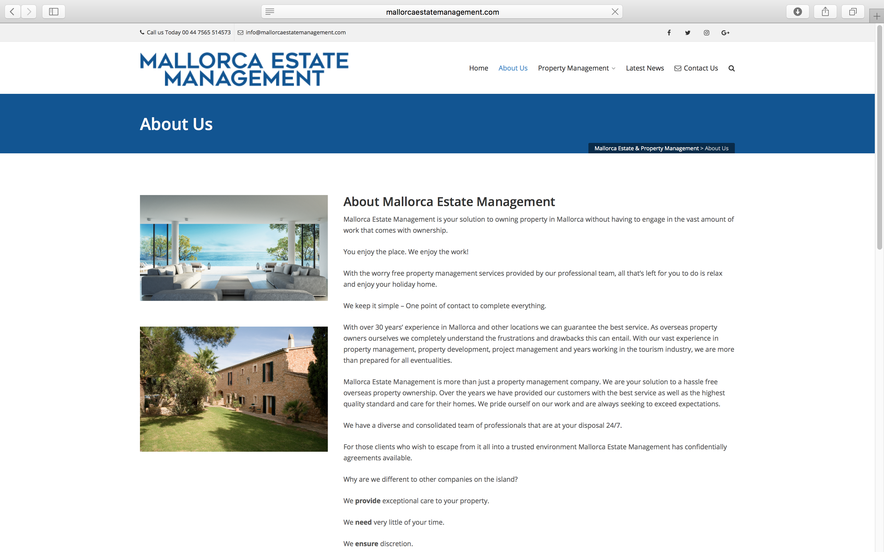 Mallorca Estate Management About
