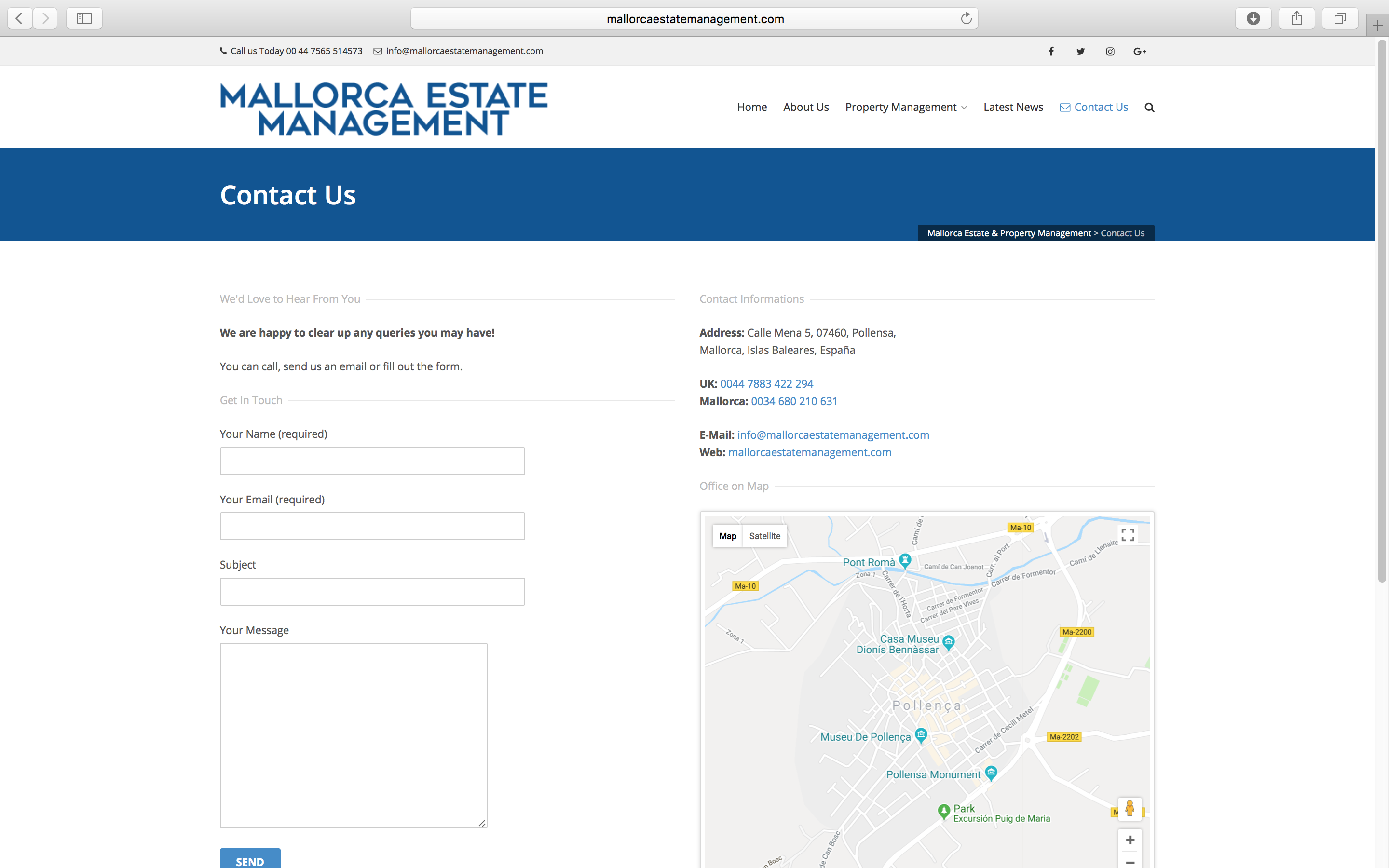 Mallorca Estate Management Website