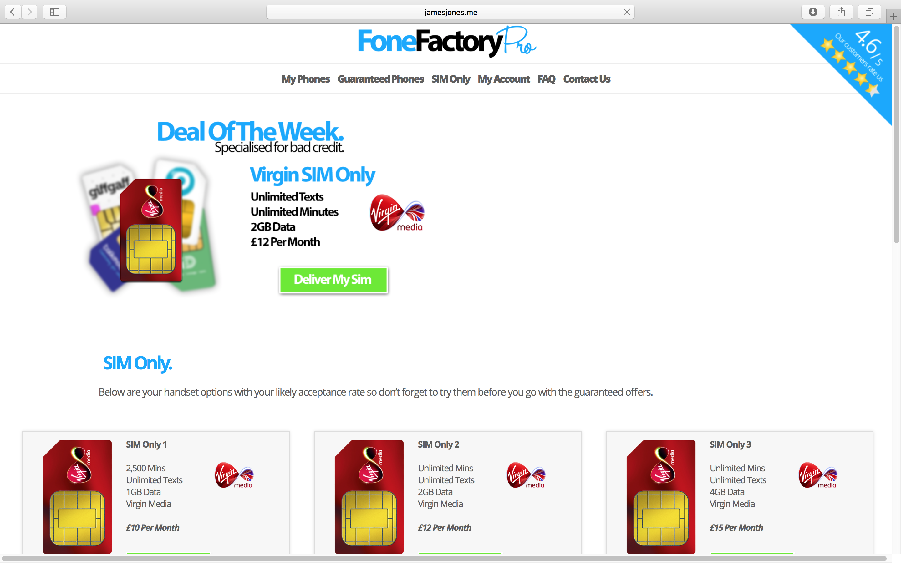 Fone Factory Pro Sim Only