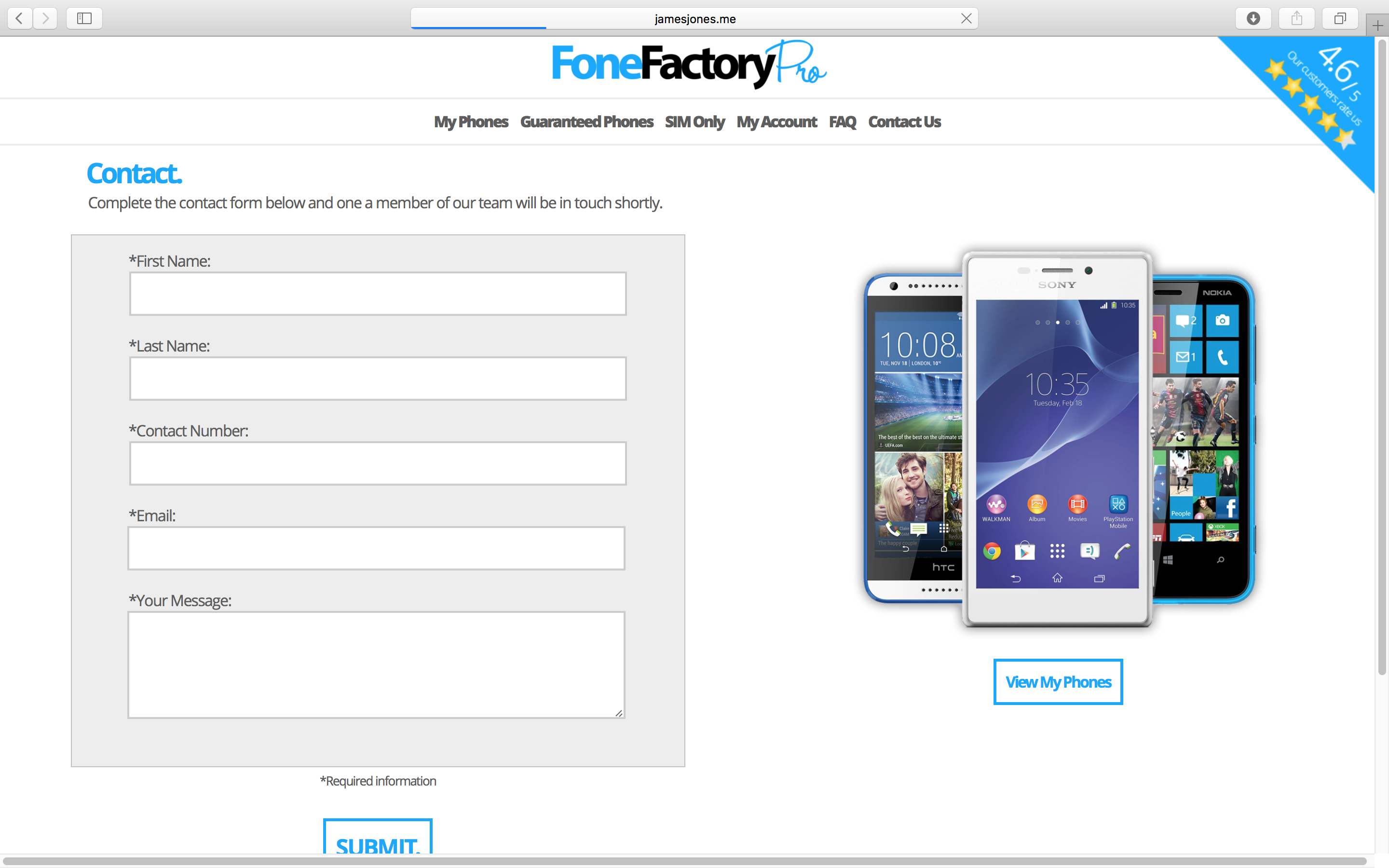 Fone Factory Pro Contact